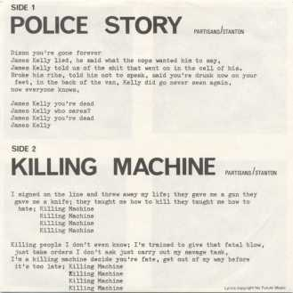 Letras del single Police Story/Killing Machine de The Partisans