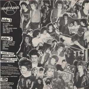 Contraportada del primer disco de The Partisans, editado por No Future en 1983