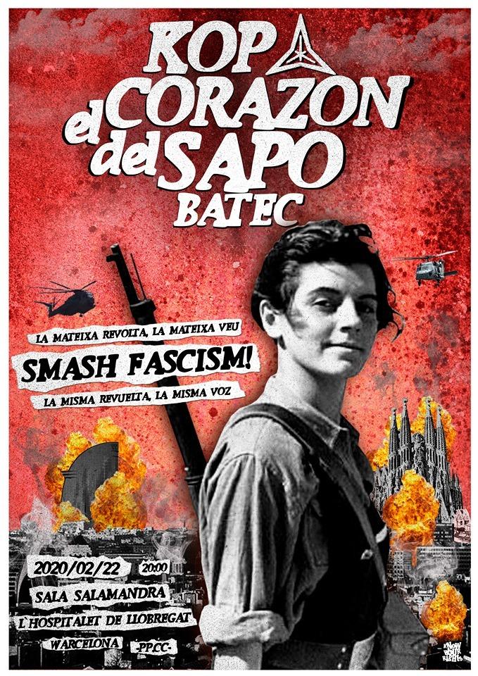 Cartel del concierto de KOP + El Corazón del Sapo + Batec @ Salamandra, el 22 de febrero de 2020