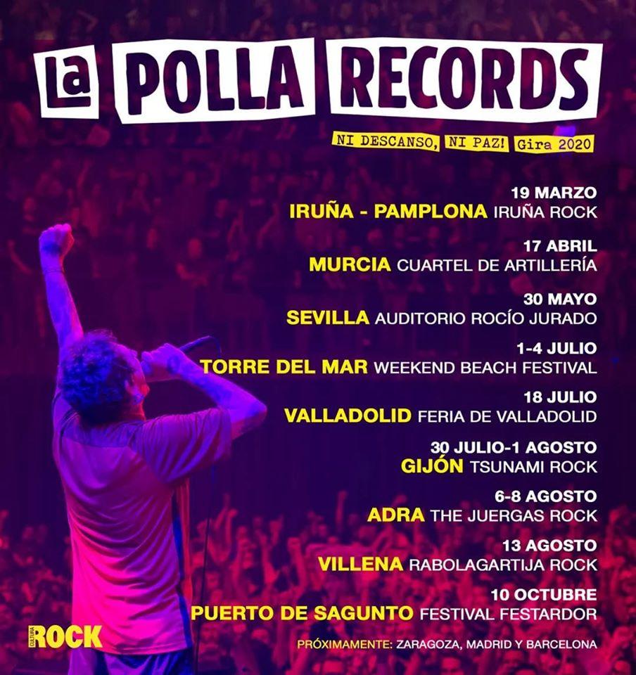 Conciertos de La Polla Records en 2020