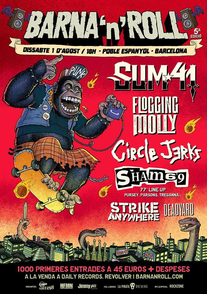 Cartel del Barna'n'Roll 2020 @ sábado 1 de agosto de 2020 en Barcelona