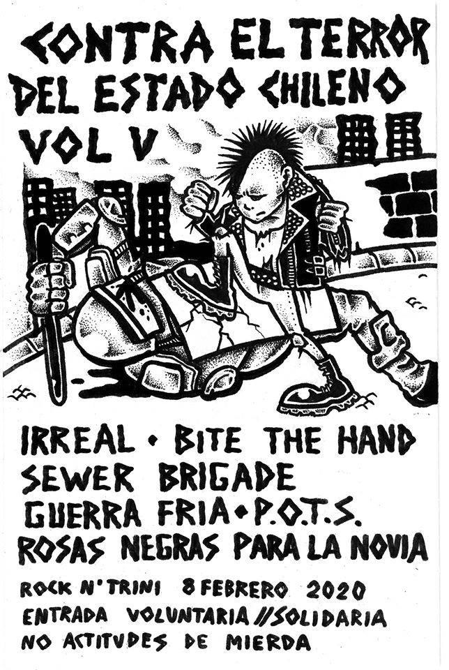 Contra el terror del estado chileno Vol. 5 @ Rock'n'Trini, Barcelona, el sábado 8 de febrero de 2020