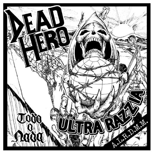Portada del split entre Ultra Razzia y Dead Hero que edita Primator Crew (2020)
