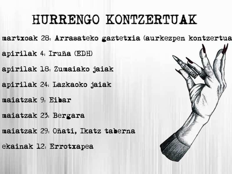 Próximos conciertos de Perlata en marzo, abril y mayo de 2020