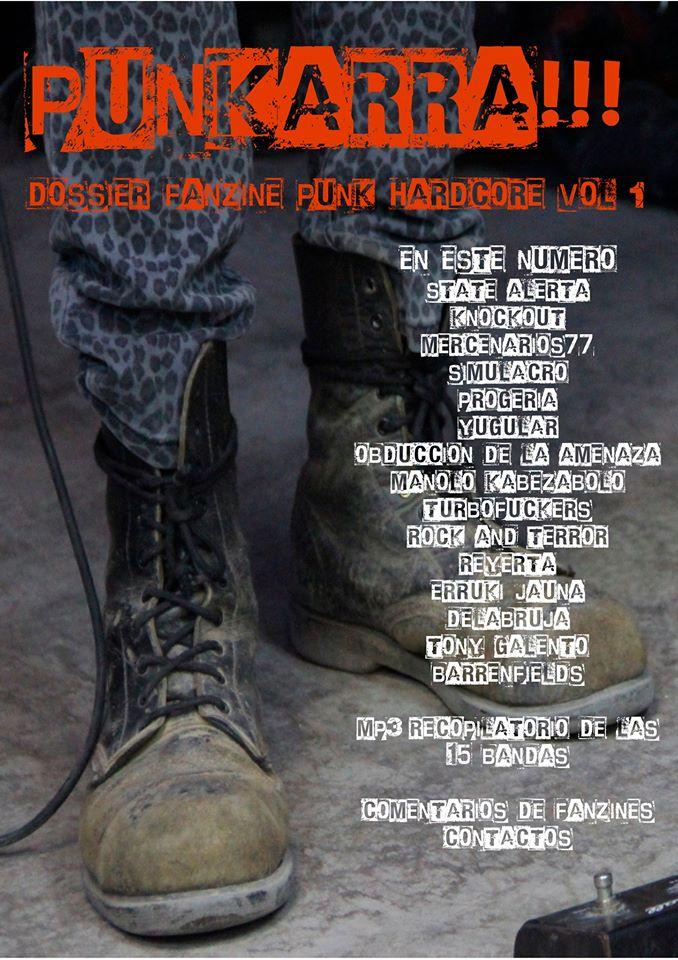 Portada nº1 de Punkarra!!!: Dossier Punk Hardcore (marzo 2020)