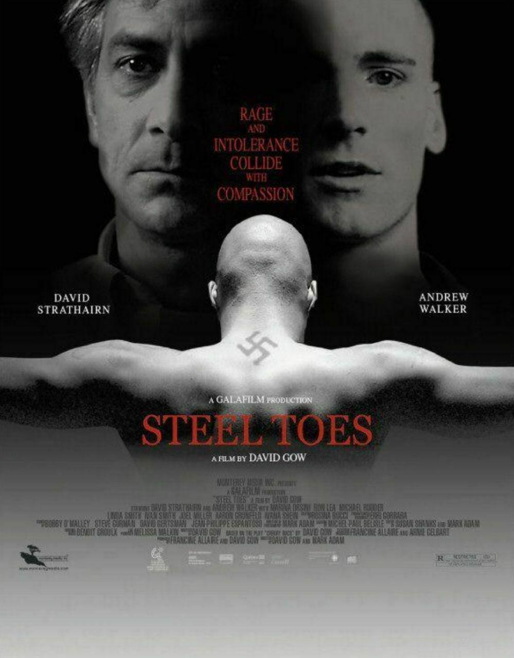 Cartel de la película 'Steel Toes' o 'Pies de acero' de David Gow (2007) doblada al castellano