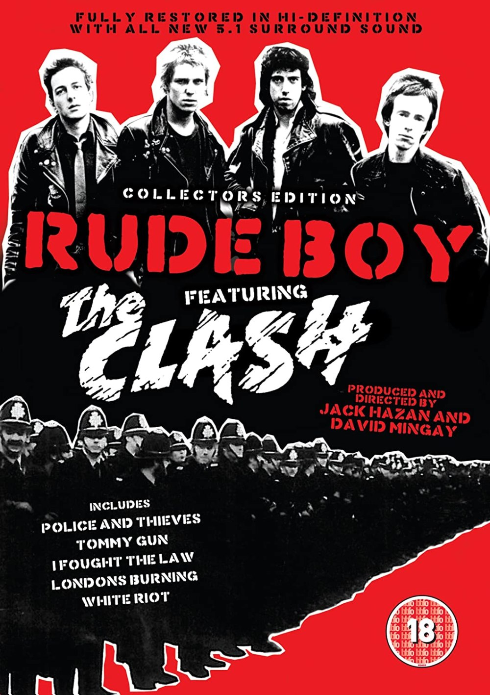 Cartel de la película documental 'Rude Boy' (1980) de Jack Hazan y David Mingay