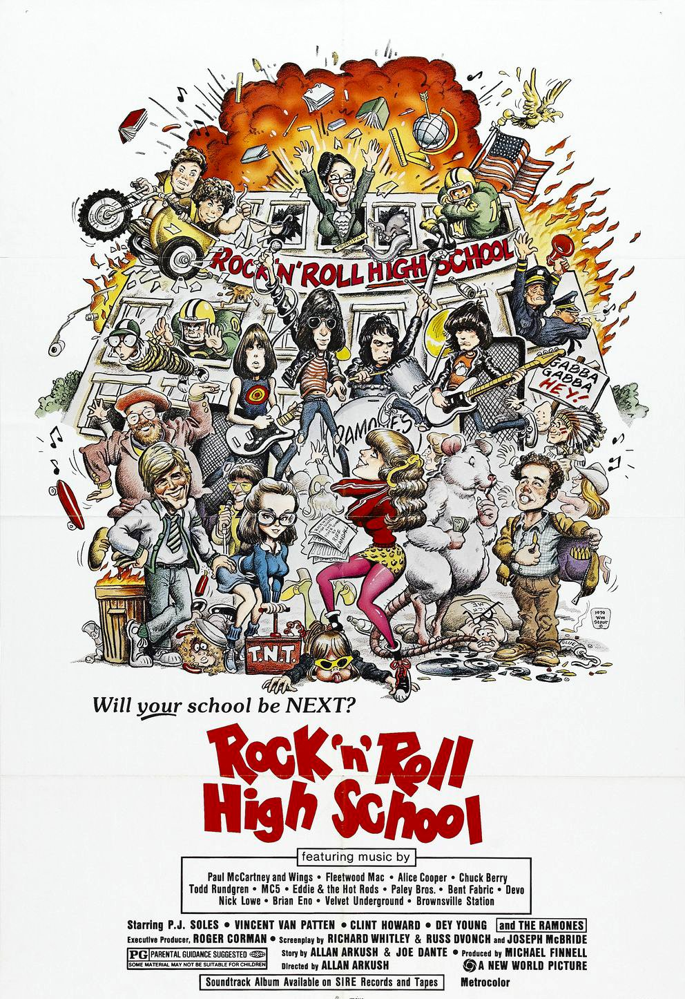Cartel de la película Rock N Roll High School de Ramones (197)