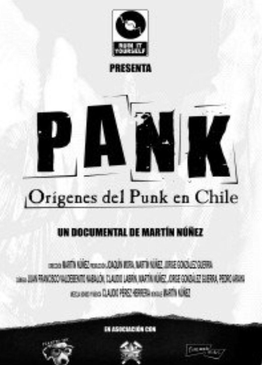 Cartel del documental 'PANK: Orígenes del punk en chile' (2010)