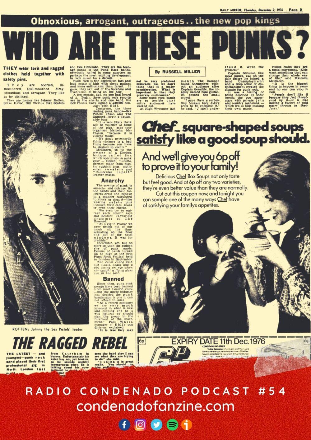Cartel de Radio Condenado #54 | Y con ellos llegó el escándalo... ¡Sex Pistols!