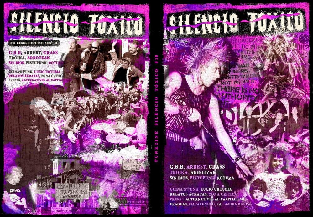 Portada y contraportada del punkzine Silencio Tóxico #10