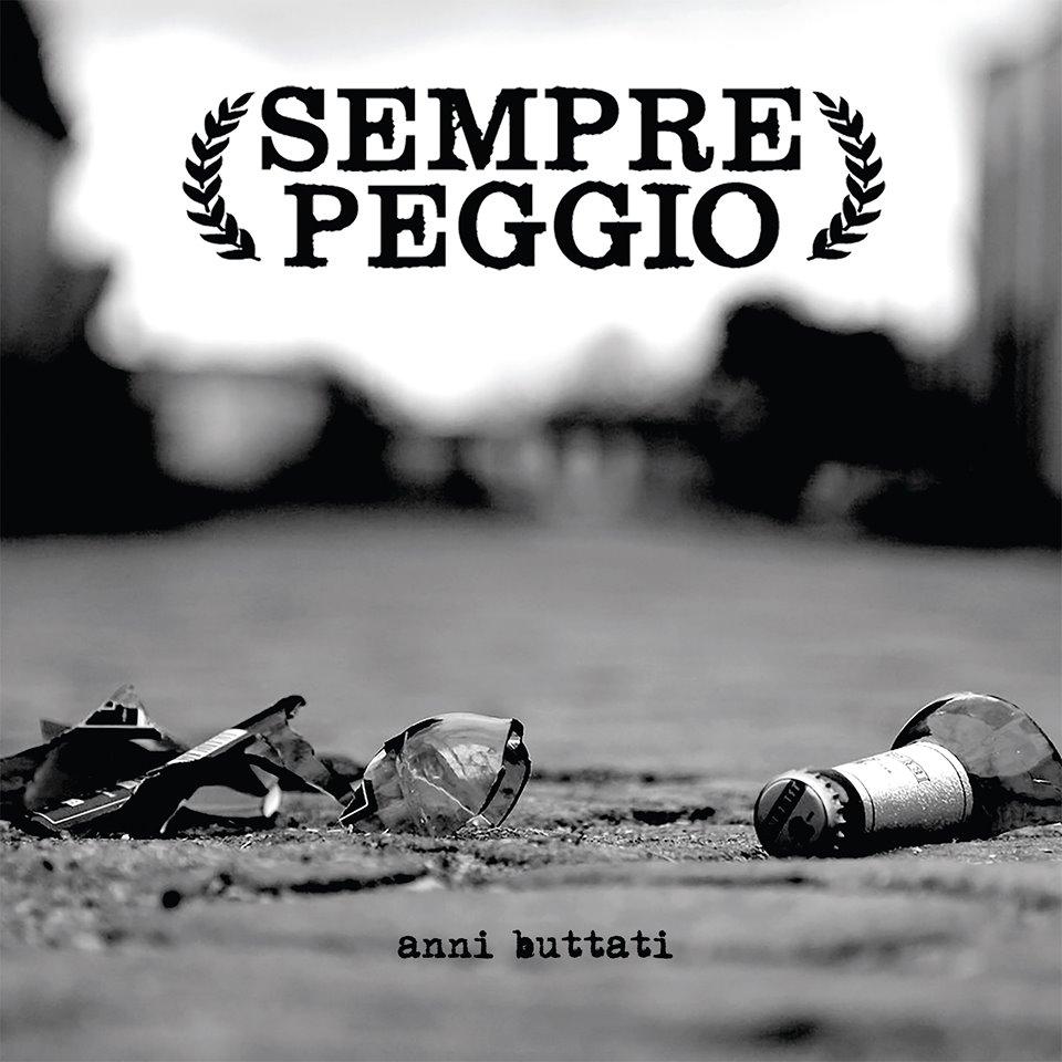 """Portada del 7"""" 'Anni Bruttati' de Sempre Peggio (Timebomb Records, 2020)"""
