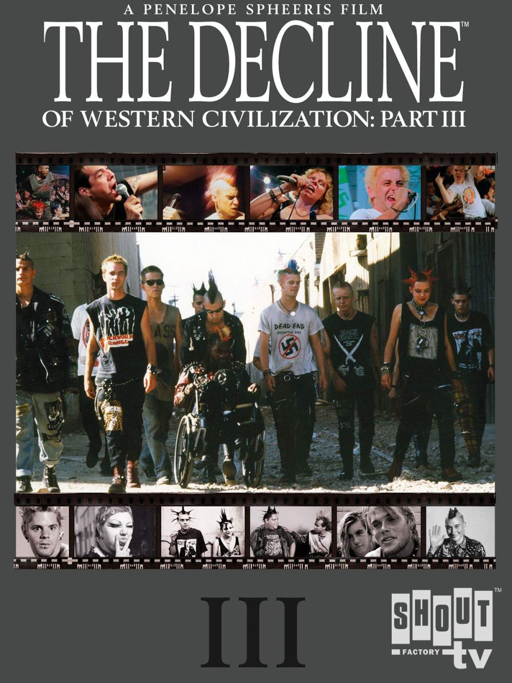Cartel de Documental de The Decline of Western Civilization III (Penelope Spheeris, 1998)