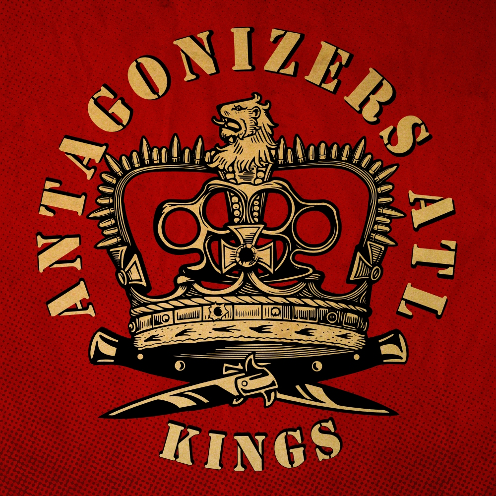 Portada del disco 'Kings' de Antagonizers ATL, publicado por Pirates Press Records en febrero de 2021