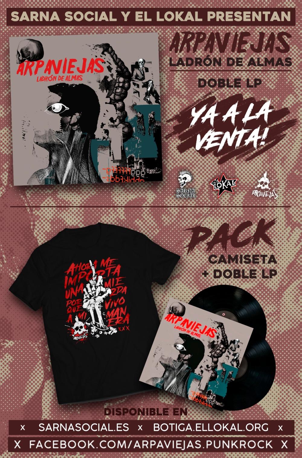 Edición en vinilo de 'Ladrón de Almas' de Arpaviejas por El Lokal y Sarna Social