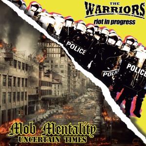 """'Brothers In Oi!' 7"""" compartido entre The Warriors y Mob Mentality, editado en 2020 por Laketown Records, 8 Up Records y Clockwork Punk"""