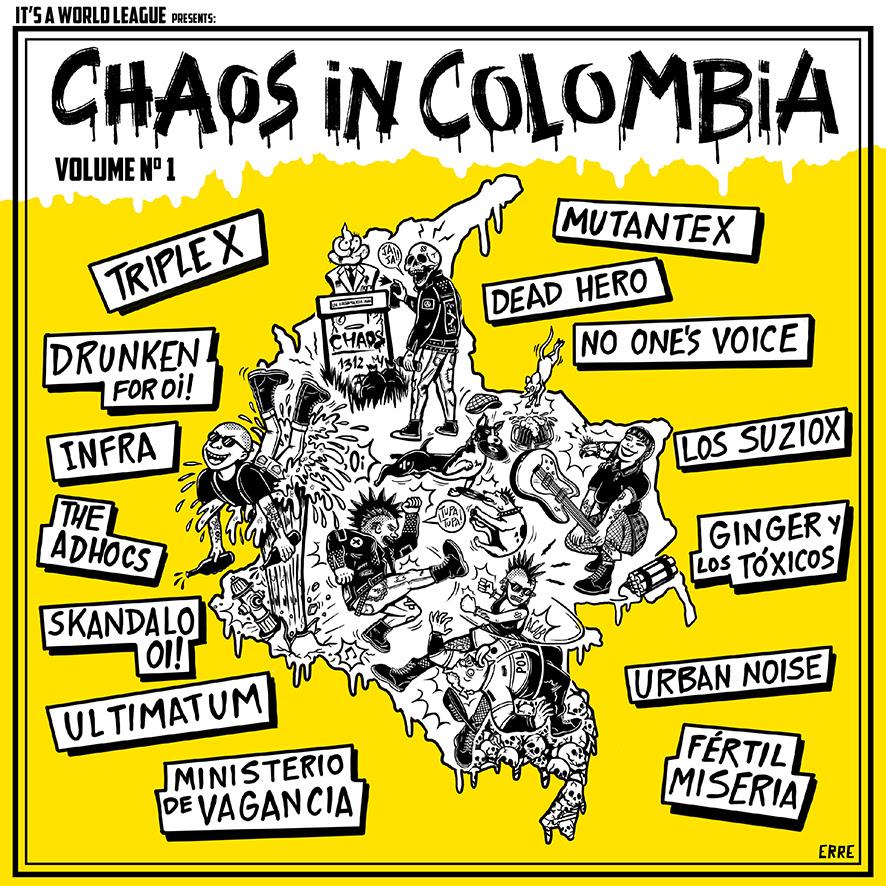 Portada de la compilación 'Chaos In Colombia' (2021)