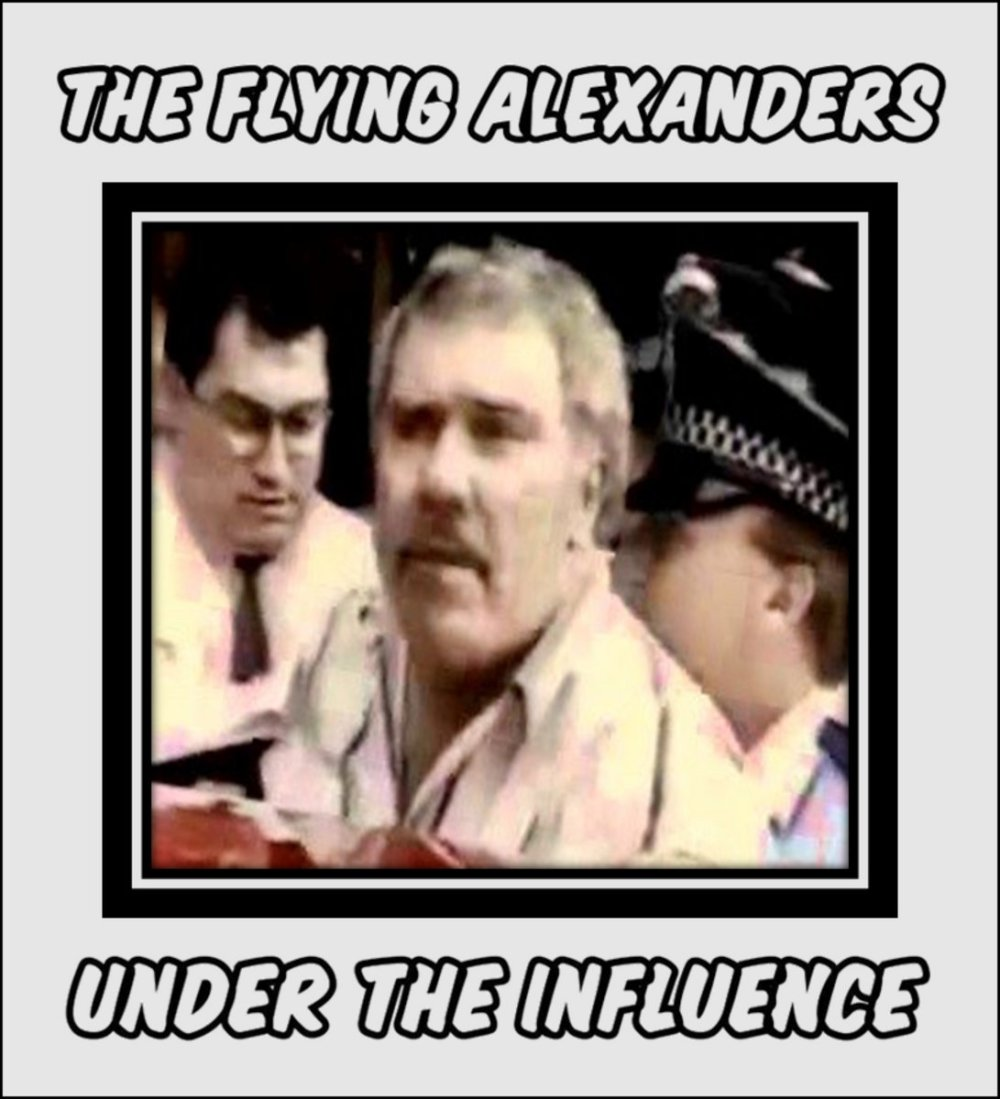 Portada de 'Under The Influence' de The Flying Alexanders, publicado por Weekend Offender Records en febrero de 2021