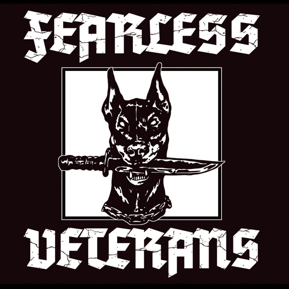"Portada del primer Ep de Fearless Veterans, publicado en formato 7"" por los sellos CROM Records, Radikal 1977 Records y Clockwork Punk Records"