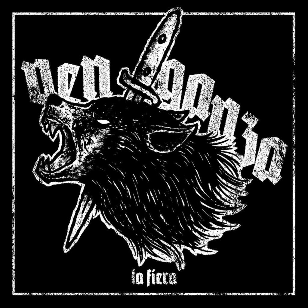Portada del Ep de cuatro canciones titulado 'La Fiera' de Venganza, editado en abril de 2021 por Youthanasia DIY y Discos Enfermos