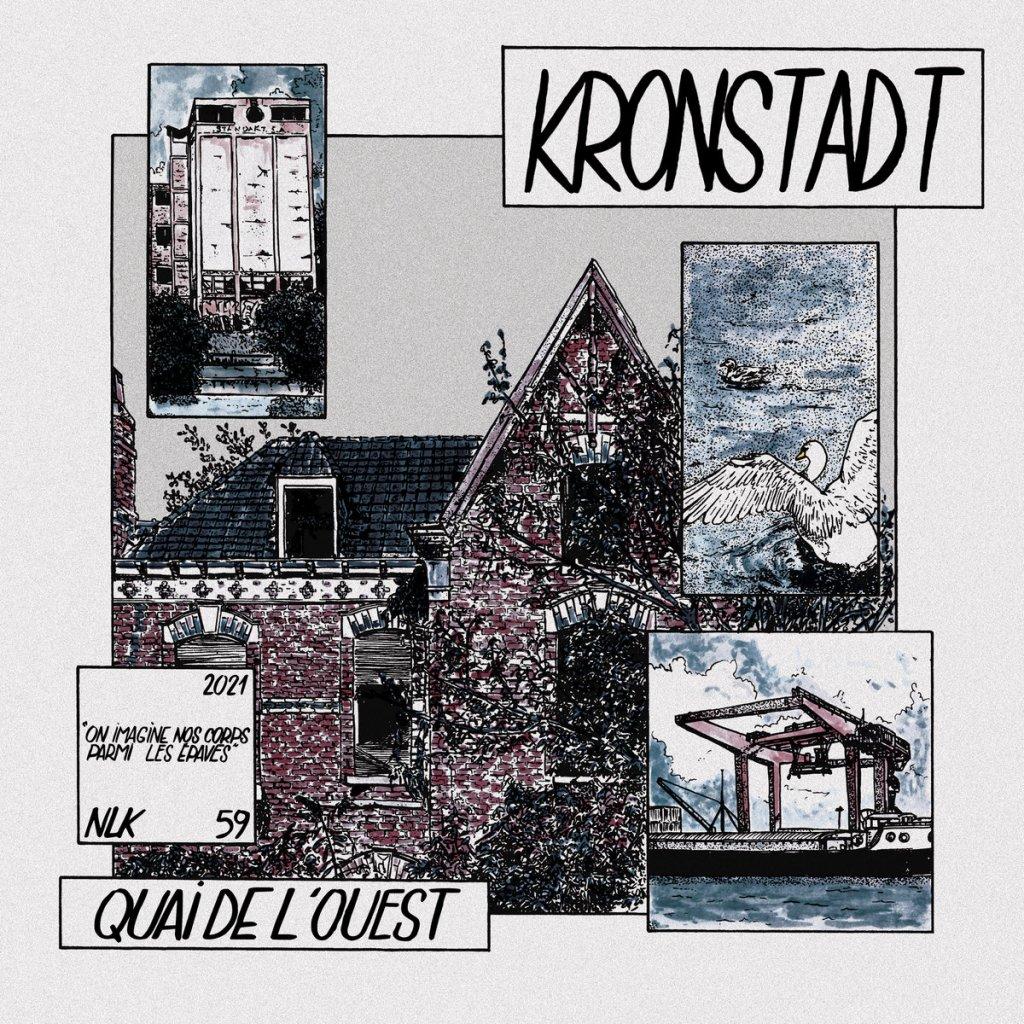 Portada de 'Quai de l'ouest', nuevo disco de Kronstadt que será publicado en junio de 2021 por el sello Une Vie Pour Rien Vinyles