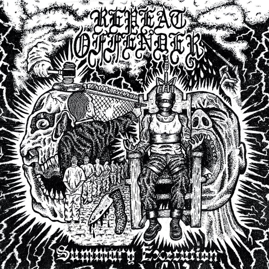Portada de 'Summary Execution' de Repeat Offender, que será editado en el verano de 2021 por Mendeku Diskak y Shitkicker Records