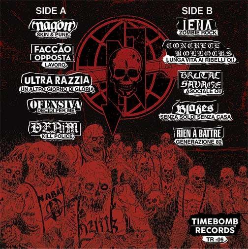 contraportada de 'Zombie Rock (A Worldwide Tribute To Nabat)' (Timebomb, 2021)