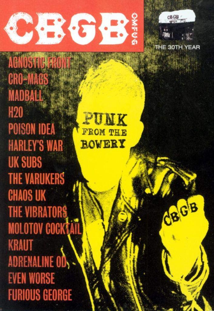 Portada del DVD 'CBGB Punk From The Bowery' (2003)