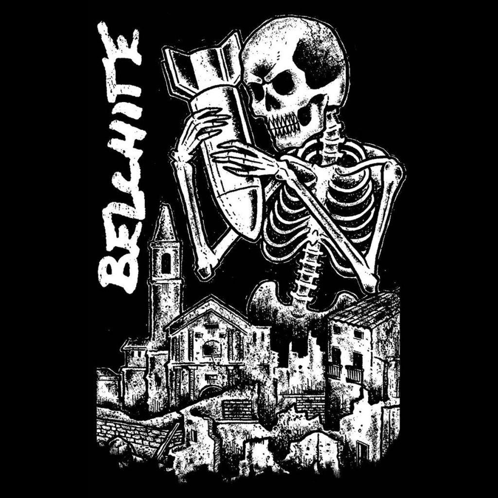 Portada del primer disco de Belchite, banda punk & d-beat de Zaragoza