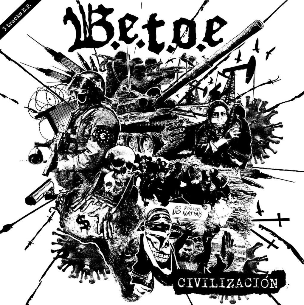 """Portada del 7"""" EP 'Civilización' de B.E.T.O.E. (Blown Out Media, 2021)"""