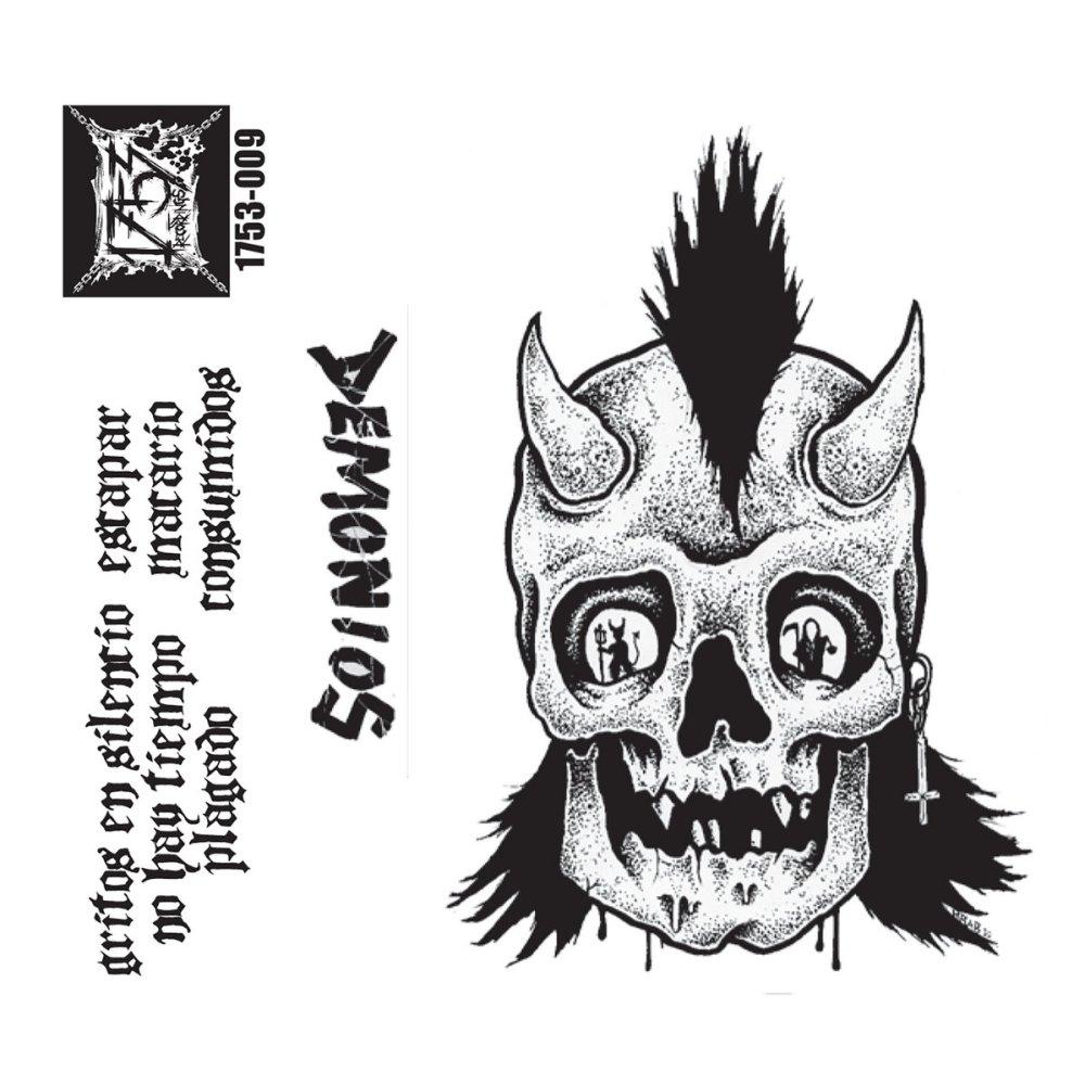 Portada de la casete de debut de Demonios, banda punk procedente de Los Ángeles