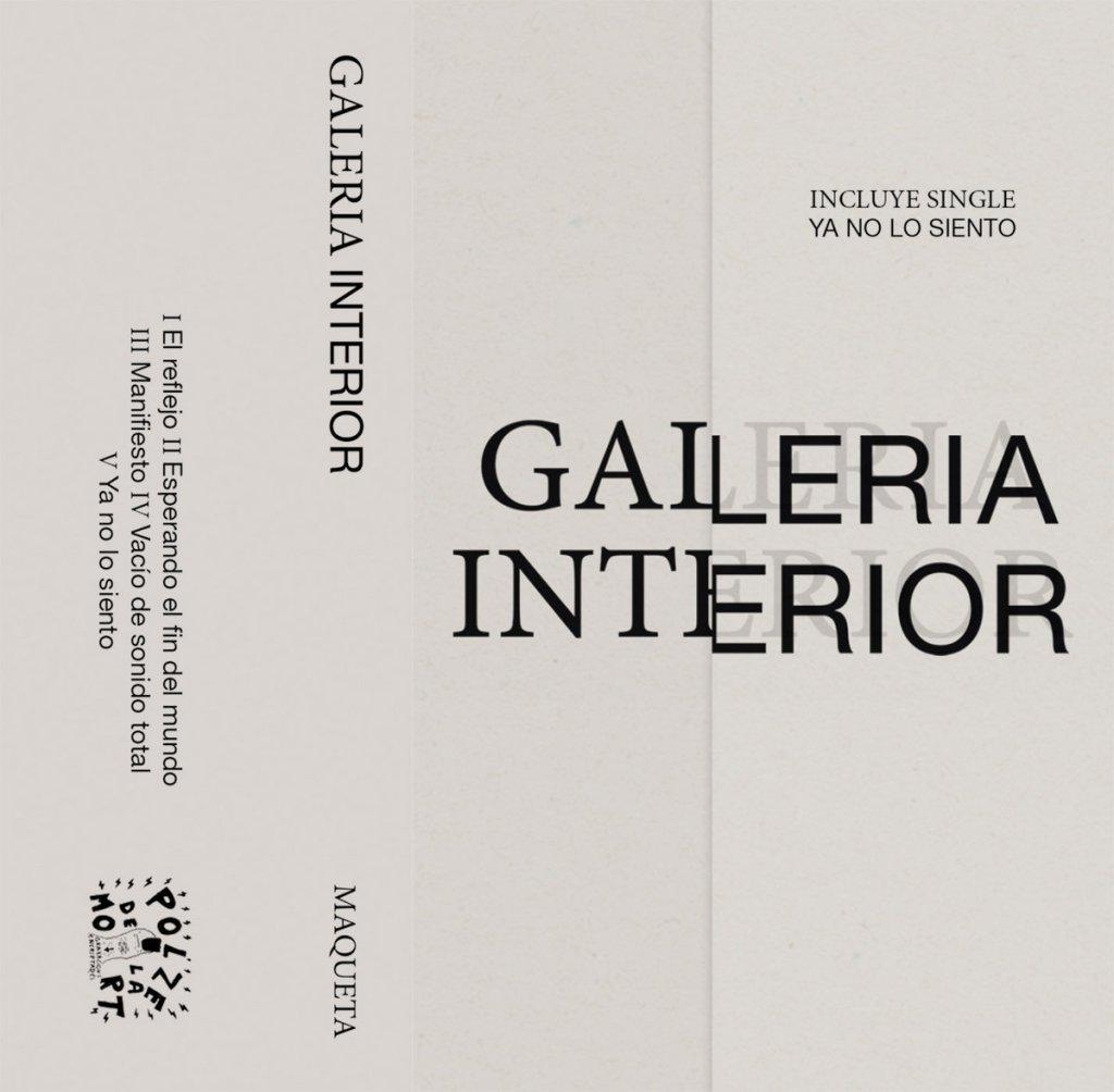 Portada de 'Maqueta + Single' de Galería Interior, editado en formato casete por Polze de la Mort (2021)