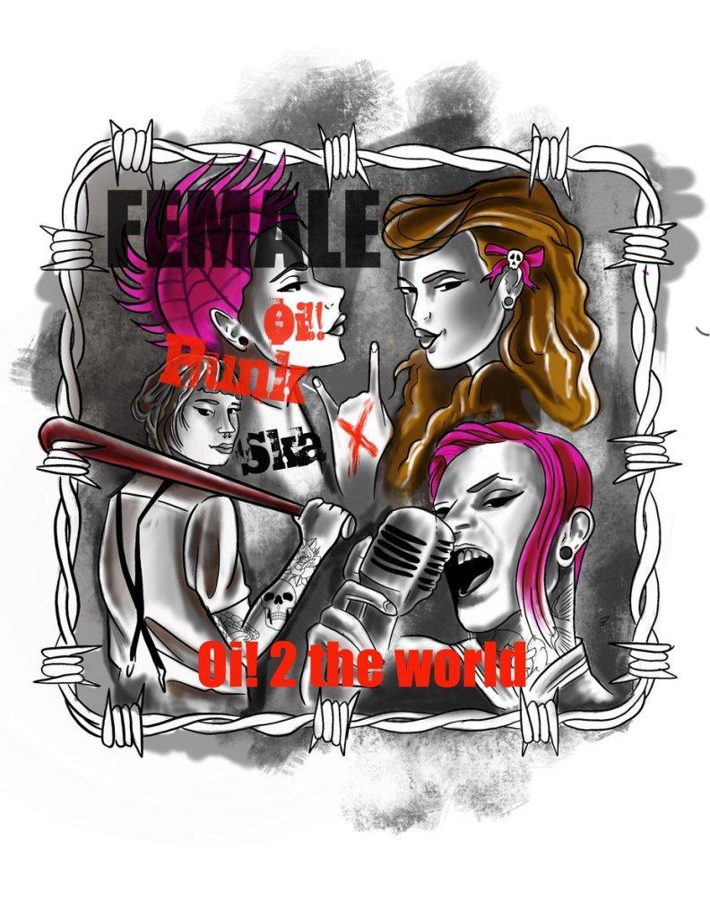Portada de 'Oi 2 the World Vol 3 - Female Punk, Oi, and Ska' (2021)