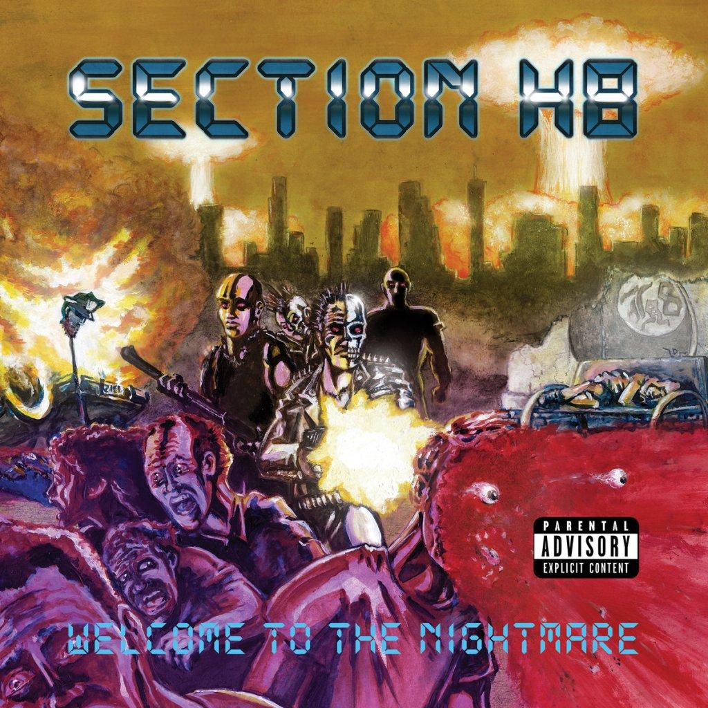 Portada de 'Welcome to my Nightmare' de Section H8 (Flatspot Records, 2021)