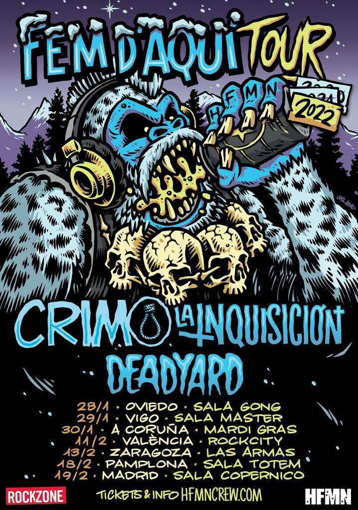 Fechas de Fem 'D'Aqui Tour 2022 con CRIM, La Inquisición y Deadyard