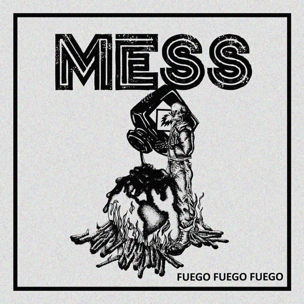"""Portada de 'Fuego, Fuego, Fuego' 12"""" EP de Mess (2021)"""