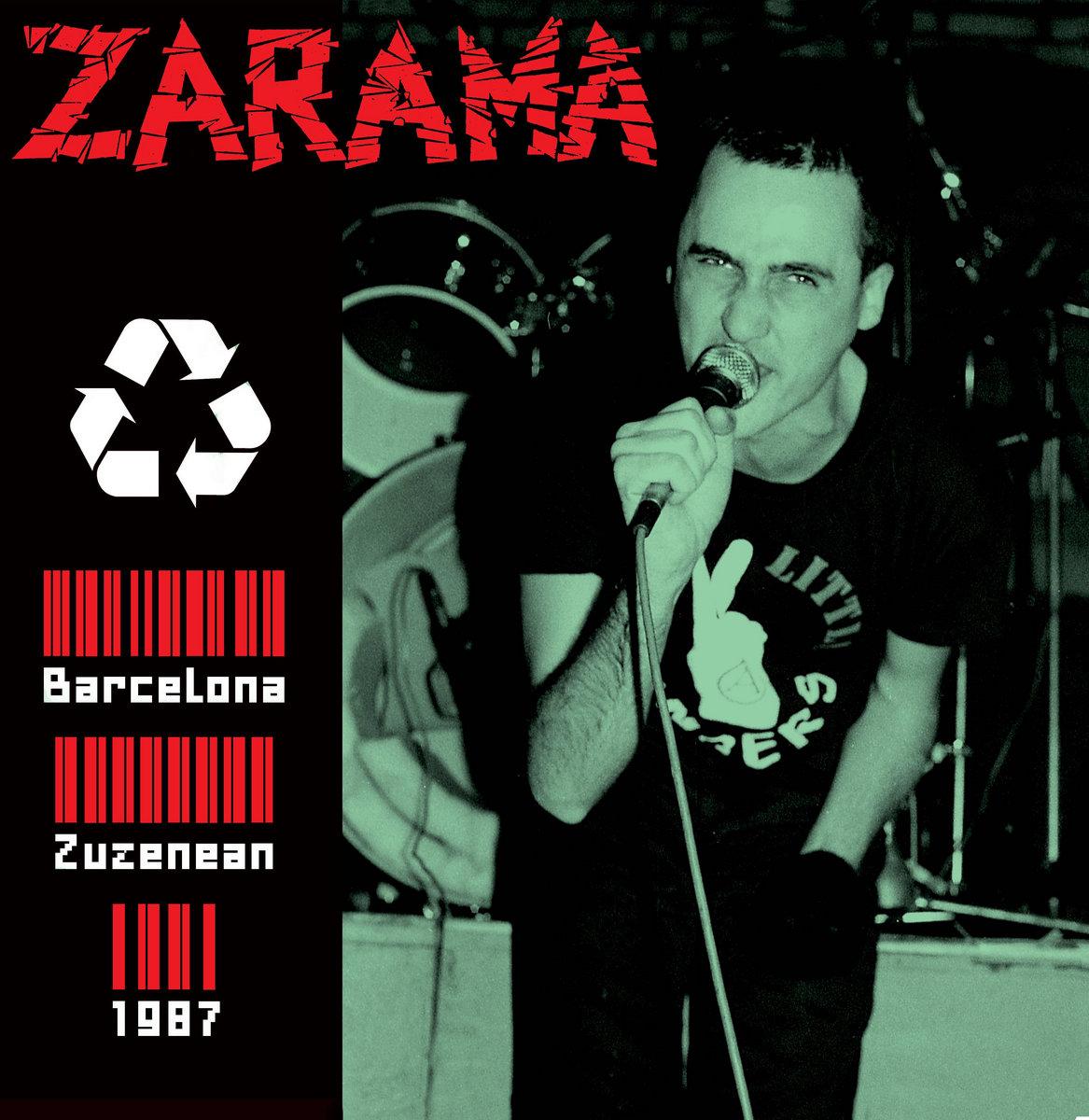 Portada del disco 'Barcelona Zuzenean 1987', editado en 2021 por Vomito PunkRock Records